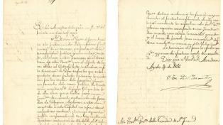 En una carta histórica, San Martín mencionó en 1816 a las Malvinas como territorio argentino