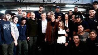Macri visitó con Stanley una fábrica recuperada en Florencio Varela