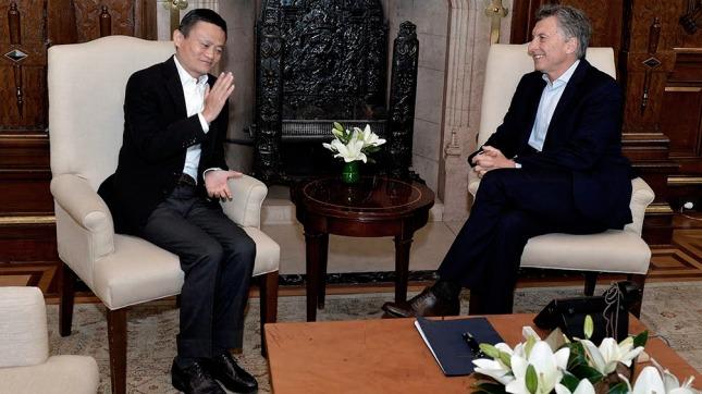 El Presidente recibió al empresario chino Jack Ma, fundador de Alibaba