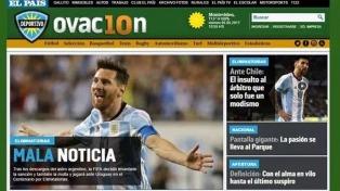 La decisión de la FIFA sobre Messi en los medios del mundo