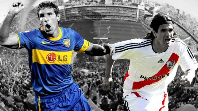 La formación de los equipos para el Superclásico — Boca-River