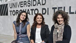 Andrea Goldín, Claudia Romero y María Juliana Leone
