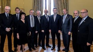 Macri se reunió con la B'nai B'rith Internacional en la Casa Rosada