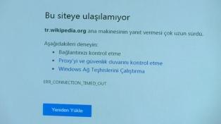 El gobierno turco dice que Wikipedia seguirá bloqueado