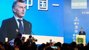 """Macri convocó a empresarios chinos para que la Argentina sea """"el supermercado del mundo"""""""