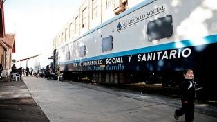 El tren socio sanitario nacional ofrece asistencia integral en varias localidades