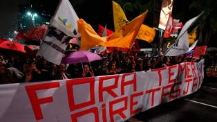 Movilizaciones y protestas para pedir la renuncia de Temer