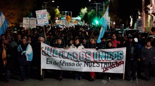Marchas en Santa Cruz piden por salarios y la normalización de los servicios públicos