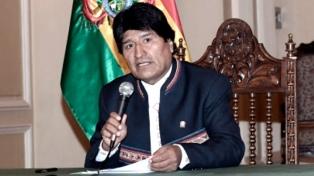 Nueva movilización en apoyo a la reelección de Evo Morales
