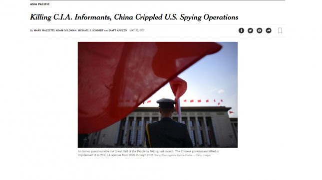 China desmantela operaciones de la CIA en ese país