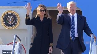 Bruselas recibió a Trump con un gran dispositivo de seguridad