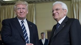 Tras ver al Papa, Trump se reunió con Mattarella y Gentiloni