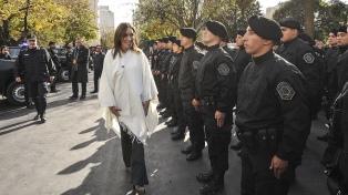 Vidal y Ritondo encabezan un acto por el aniversario de la Policía Bonaerense