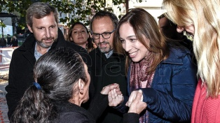 """""""La gente siente que empezamos a cumplir"""",  afirmó Vidal al recorrer el inicio de obras en Fuerte Apache"""