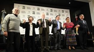 """Cinco premios Nobel de la Paz abrieron un encuentro sobre la """"construcción de la paz"""""""