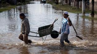 Asisten a 40 familias por un temporal en el sur de la provincia