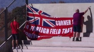 Una bandera inglesa generó mal clima en el partido de Los Pumas