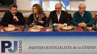 """El PJ Capital presentó el """"Frente de Unidad Porteña"""""""
