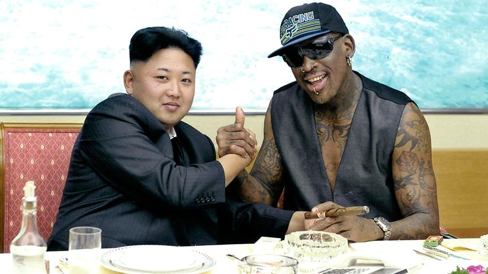 Kim Jong-un junto a Dennis Rodman