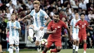 Argentina goleó a Singapur por 6 a 0