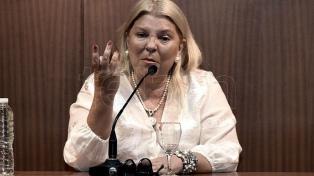"""Carrió dijo que el préstamo que se gestiona con el FMI es """"un seguro contra el golpe"""""""