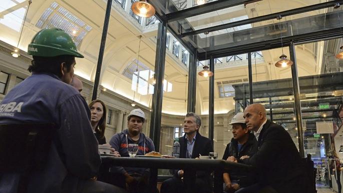 Macri y Vidal fueron increpados en Tigre por militantes kirchneristas y docentes