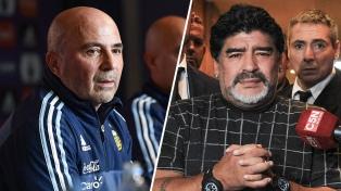 """Maradona: """"A mí Sampaoli me falseó, estoy muy enojado y no sabe más que Bauza"""""""