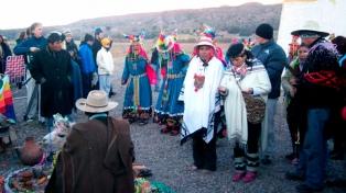 Comunidades ancestrales recibieron el año solar en Huacalera