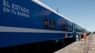 """El tren de """"El Estado en tu Barrio"""" atiende a miles de personas en el interior"""