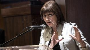 Patricia Bullrich dijo que habrá 14.500 efectivos en el operativo de seguridad del G20
