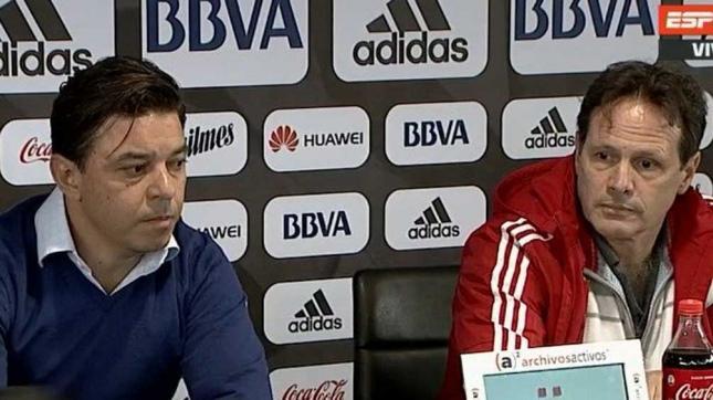 Gallardo y Hansing en conferencia de prensa (foto: Imagen de TV)