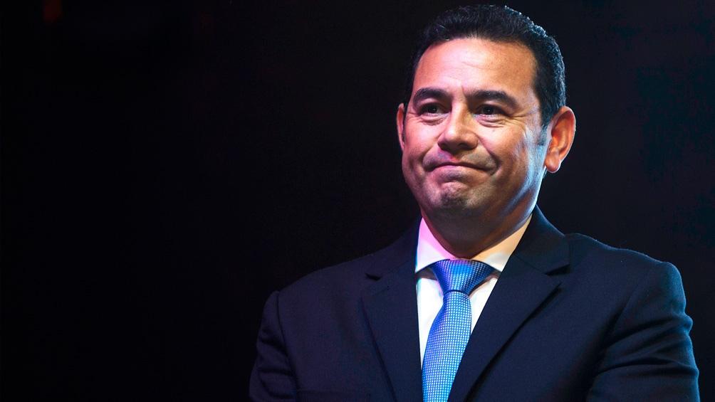 Jimmy Morales. presidente de Guatemala