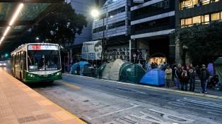 Movimientos sociales marcharon para pedir su incorporación al Consejo del Salario