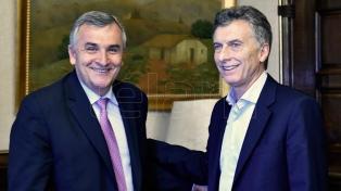 El presidente recibió al gobernador de Jujuy Gerardo Morales