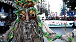 Organizaciones ambientales marcharon en defensa de los bosques nativos