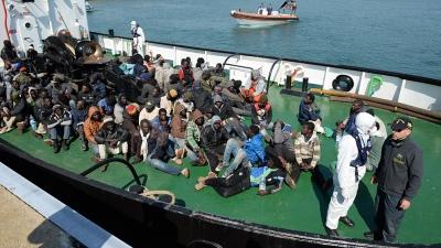 Llegan a Italia un total de 1.096 inmigrantes rescatados del mar Mediterráneo