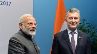 El primer ministro indio le manifestó a Macri su interés en invertir en hidrocarburos, autos y medicamentos