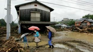 Las intensas lluvias en Fukoka y Oita causaron 18 muertes