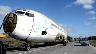 Un Boeing que fue a Malvinas será el nuevo atractivo de la República de los Niños