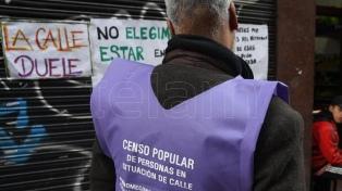 Dos censos buscarán determinar cuántas personas en situación de calle hay en la ciudad de Buenos Aires
