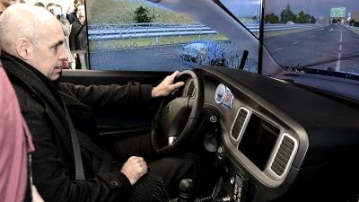 Resultado de imagen para Rodríguez Larreta entregó dos simuladores de manejo a la Policía de la Ciudad