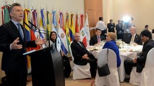 """Macri dijo que la reducción de la pobreza es el """"principal compromiso"""" del Mercosur"""