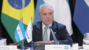 """La CGT repudió la presencia de Temer en el país y acusó al gobierno argentino de tener """"el mismo proyecto"""""""