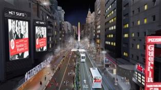 La avenida Corrientes será peatonal de noche entre Callao y Libertad
