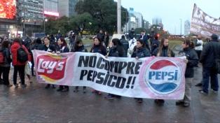 Trabajadores de PepsiCo realizan una jornada de protestas