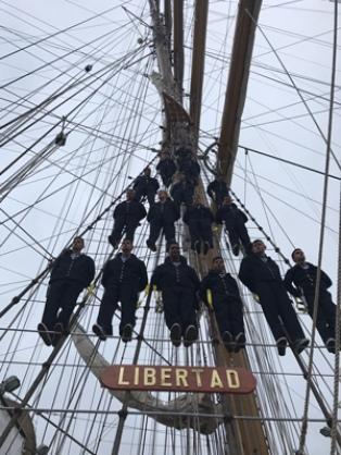 La Fragata Libertad regresa a Buenos Aires  después de seis meses y 23.000 millas náuticas