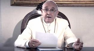 """En sus oraciones por YouTube, Francisco pidió """"por los artistas"""""""