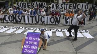 La oposición llamó a retomar las protestas en las calles