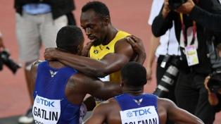 Usain Bolt fue derrotado en la final de 100 metros, que ganó el estadounidense Gatlin