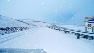 Cortaron la ruta 40 debido a la nieve caída en el sudoeste de la provincia